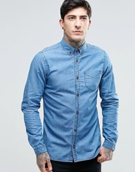 Dr. Denim Dr Pete Shirt Lt Retro Blue