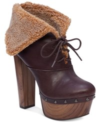 Jessica Simpson Daane Foldover Faux Shearling Booties Women's Shoes