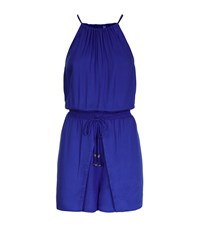 Seafolly Adventure Land Playsuit Female Blue