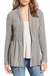 Cupcakes And Cashmere Women's Nero Tie Front Cardigan Light Heather Grey