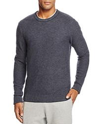 Bloomingdale's The Men's Store At Wool And Cashmere Blend Crewneck Sweater Navy Blue Cool Blue Granite