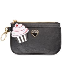 Betsey Johnson Xox Trolls Zip Coin Pouch Only At Macy's Black