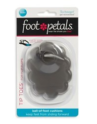 Footpetals Tip Toes Cushioned Inserts Charcoal