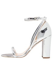 Office High Heeled Sandals Silver Mirror