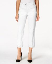 Styleandco. Style And Co. Rhinestone Trim Cropped Pants Only At Macy's Bright White
