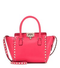 Valentino Rockstud Mini Leather Shoulder Bag Red