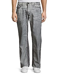 True Religion Whiskered Slim Fit Jeans Grey