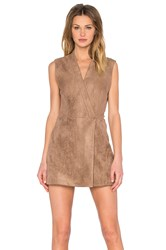 Bcbgmaxazria Caryn Faux Suede Dress Brown