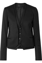 Rta Remy Layered Wool Blazer Black