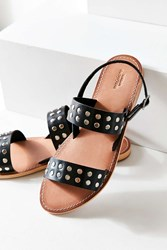 Urban Outfitters Penny Studded Leather Sandal Black