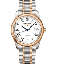 Longines L2.793.5.11.7 Master Stainless Steel And Rose Gold Watch White