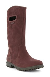 Bogs Women's 'Betty' Waterproof Tall Boot Ox Blood Suede