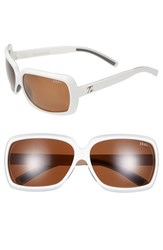 Women's Zeal Optics 'Felicity' 62Mm Polarized Plant Based Sunglasses White Gloss