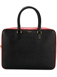 Thom Browne Stripe Business Tote Black