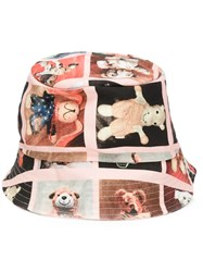 Vivienne Westwood Gold Label Teddy Bear Print Hat Pink And Purple