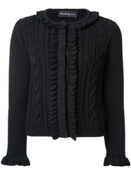Rossella Jardini Cable Knit Cardigan Black