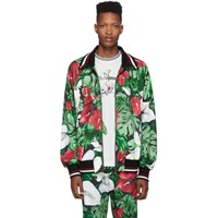 Dolce And Gabbana Multicolor Anthurium Print Track Jacket
