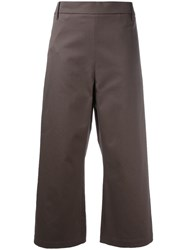 Ter Et Bantine Cropped Wide Leg Trousers Brown