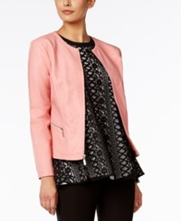 Alfani Faux Leather Jacket Only At Macy's Rare Rose
