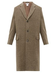 Hope Area Wool Blend Herringbone Overcoat Beige