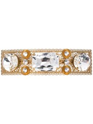 Dolce And Gabbana Embellished Hair Clip Gold