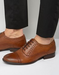 Base London Raeburn Leather Oxford Shoes Tan