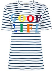 Etre Cecile Good Life Stripe T Shirt White
