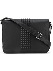 Michael Kors Stud Embellished Shoulder Bag Black