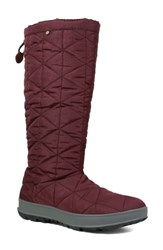 Bogs Snowday Tall Waterproof Quilted Snow Boot Wine