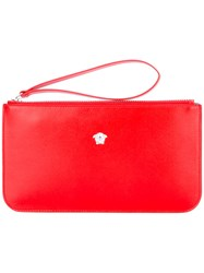 Versace Medusa Head Wallet Women Calf Leather One Size Red