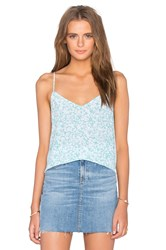 Equipment Layla Floral Print Cami Turquoise
