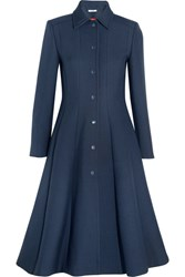 Ganni Lawrence Crepe Coat Midnight Blue