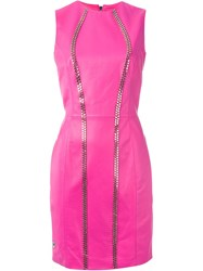 Philipp Plein 'Party' Dress Pink And Purple