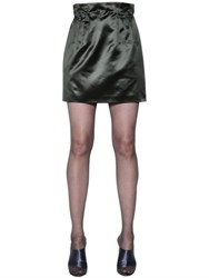Nina Ricci High Waisted Silk Duchesse Skirt