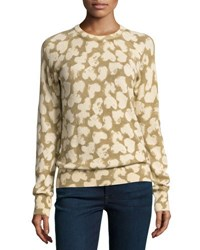 Equipment Sloan Cashmere Heart Print Sweatshirt Brown Pattern