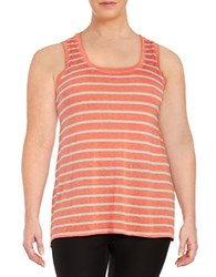Marc New York Striped Tank Top Orange