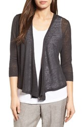 Nic Zoe Women's '4 Way' Convertible Three Quarter Sleeve Cardigan Phantom