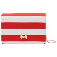 Ted Baker Stripey Evening Bag Red
