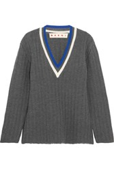 Marni Wool Blend Sweater Gray