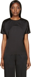 Cedric Charlier Black Double Layer Cut Out Blouse