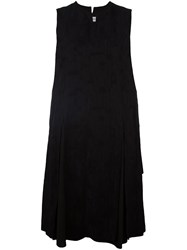 Individual Sentiments Pleated Sleeveless Dress Black