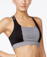 Energie Active Juniors' Santi Printed Strappy Back Sports Bra Battle Box