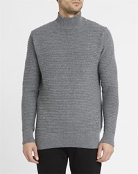 M.Studio Mottled Grey Axel High Collar Sweater