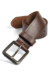 Johnston And Murphy Leather Belt Dark Brown