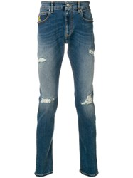 Vivienne Westwood Anglomania Distressed Jeans Blue