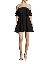 Keepsake Two Fold Strapless Mini Dress Black