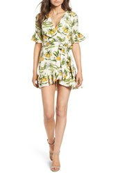 Lost Wander Limonada Citrus Dress Ivory Yellow