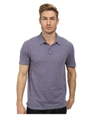 John Varvatos Soft Collar Peace Polo With Contrast Stitching And Peace Sign Chest Embroidery Iris Men's Clothing Multi