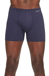 Naked Men's 'Active' Microfiber Boxer Briefs Blue