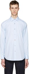 Paul Smith Blue Charm Buttons Tailored Shirt